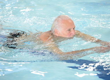 Man Swimming Breaststroke, Meridian Leisure Centre, Louth, Lincolnshire