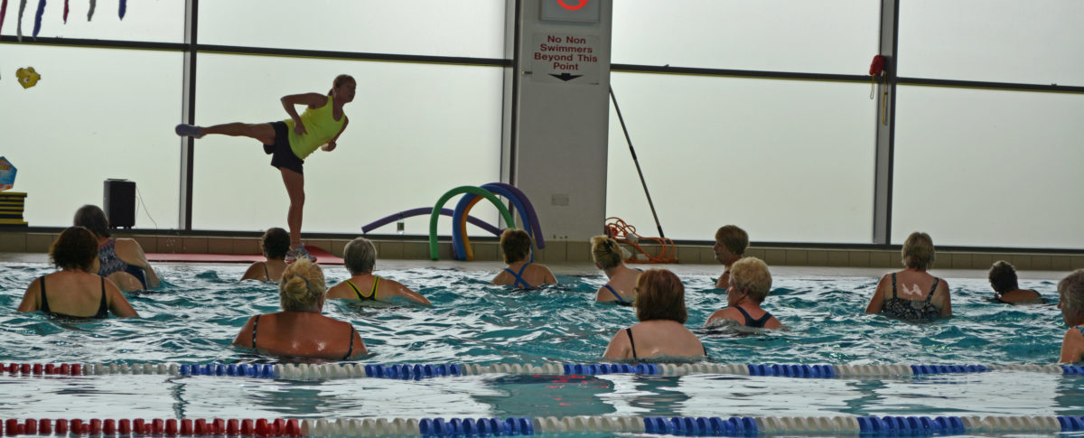 Aquacise Swimming Pool Exercise Class Meridian Leisure Centre Louth Lincolnshire