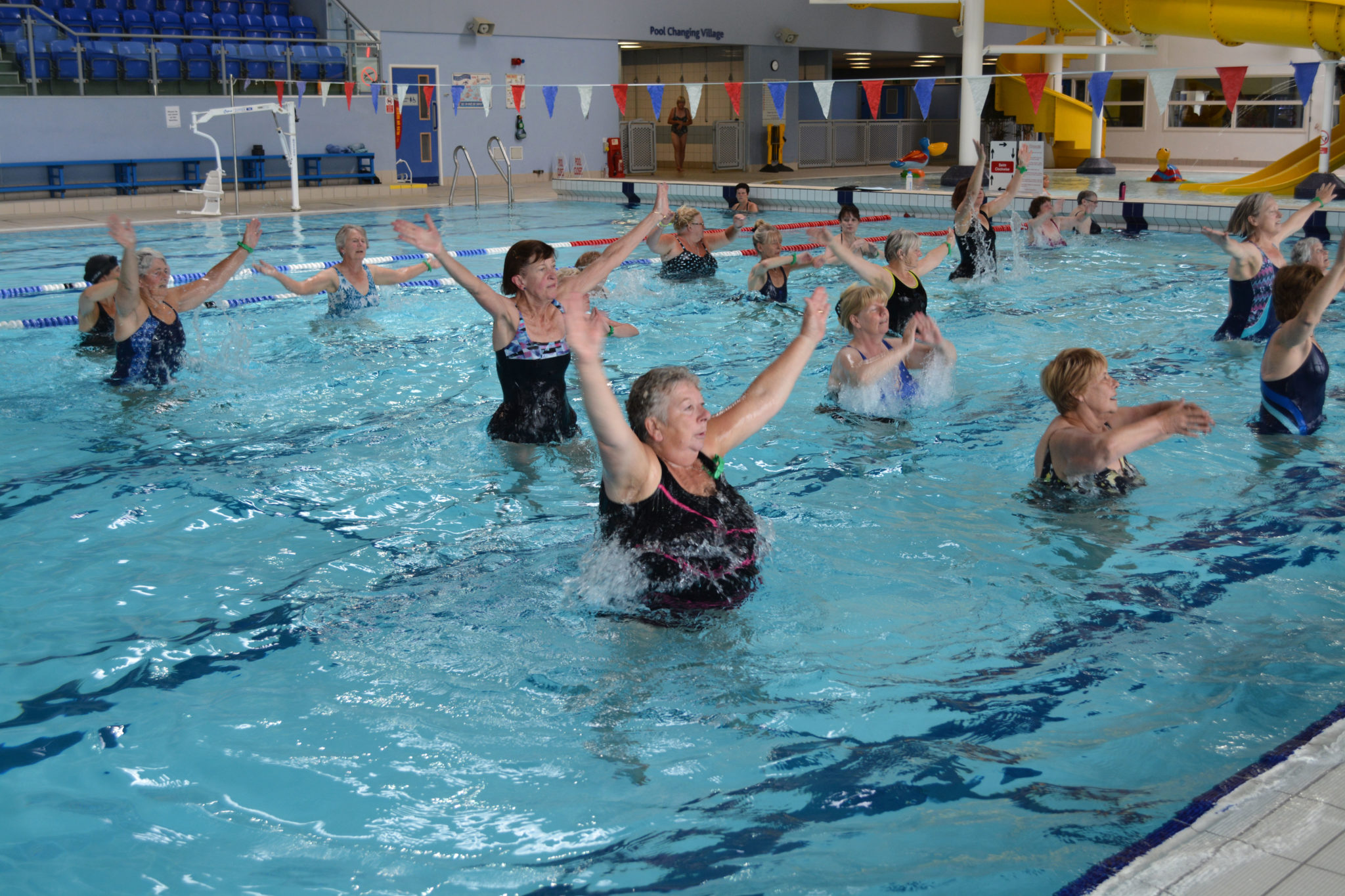 Aquacise exercise class Louth Meridian Leisure Centre Lincolnshire Swimming Pool
