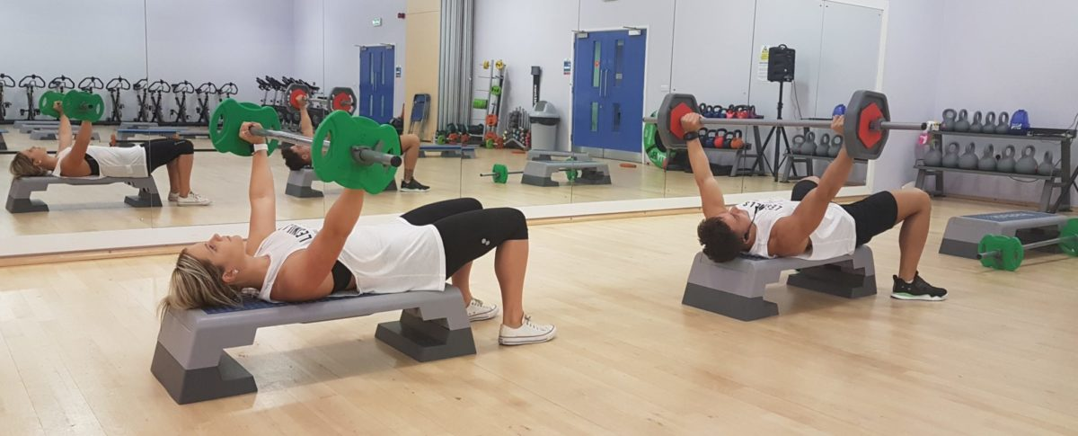 Chest Press, Body Pump, Dance Studio, Exercise Classes, Les Mills, Meridian Leisure Centre, Louth, Lincolnshire
