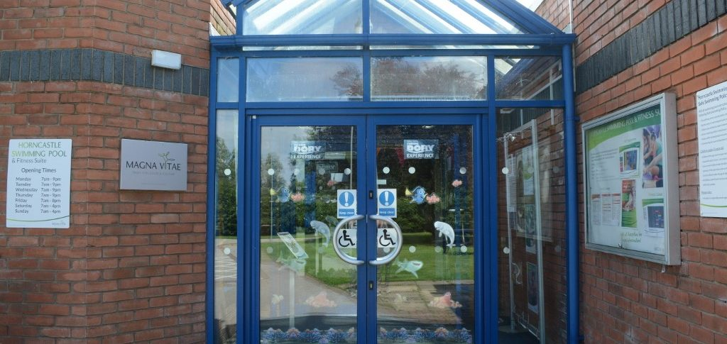 Entrance Doors Horncastle Pool & Fitness Suite, Horncastle Lincolnshire