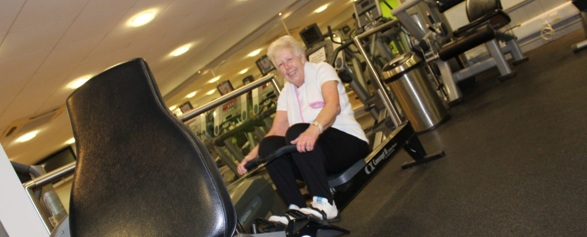 Lady on Rowing Machine, Skegness Pool & Fitness Suite, Skegness, Lincolnshire