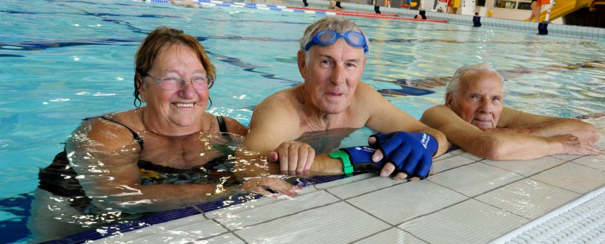 Adults Swimming, Swimming Pool, 50 plus swimming, Meridian Leisure Centre, Louth, Lincolnshire