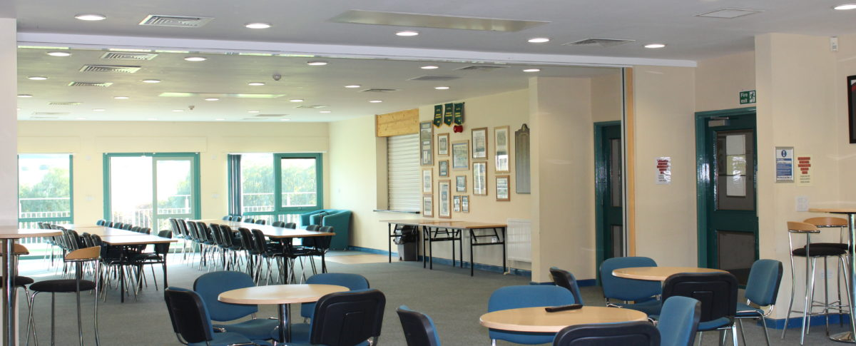 A professional function room at London Road Pavilion, Louth Lincolnshire