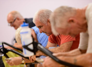 Spinning Exercise Class, Meridian Leisure Centre Louth Lincolnshire