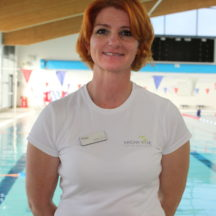 Mags Hutchings, Swimming Teacher, Meridian Leisure Centre, Louth, Lincolnshire
