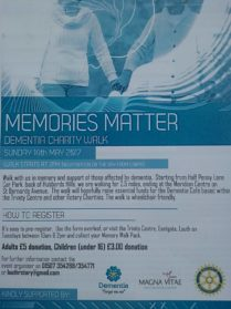 Memories Matter, Dementia Awareness Week