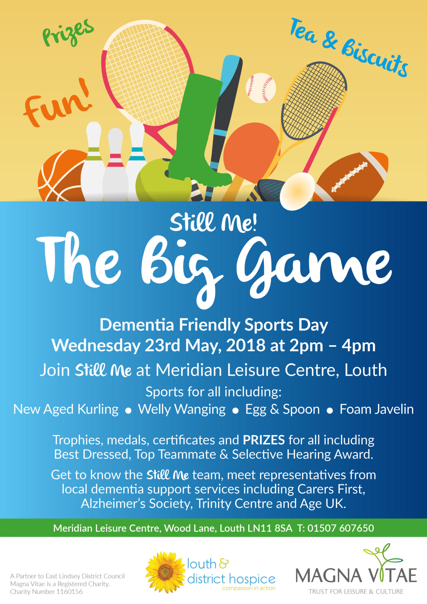 Still Me, The Big Game, Louth, Lincolnshire, Dementia, Sports Day